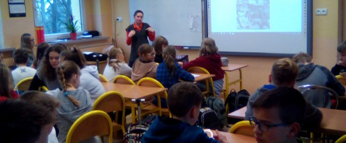 Lekcja muzealna w szkole